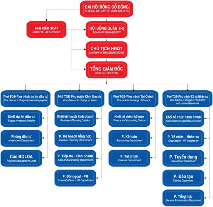 Cơ cấu tổ chức công ty IEEC Việt Nam