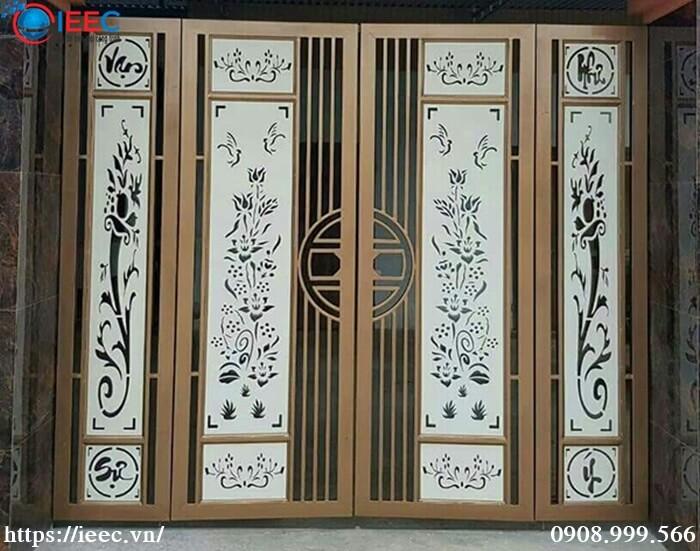 Mẫu cổng cửa sắt CNC đẹp
