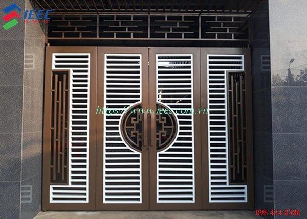 Mẫu Cửa Cổng Săt 4 Cánh đẹp